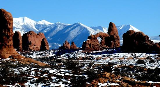 Morris' Last Resort: Arches NP with View of La Sal Mtns