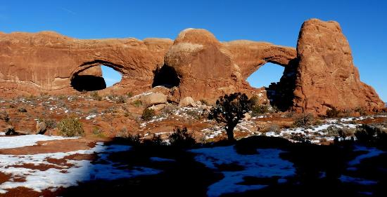 Morris' Last Resort: North and South Window at Arches NP