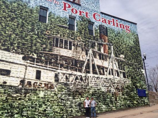 Port Carling, Canadá: Interesting Wall Mural