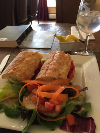 Ponce Bistro: My baguette sandwich and salad- yum!
