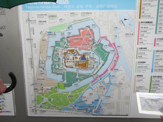 Map of the area Picture of Osaka Castle Park Osaka TripAdvisor
