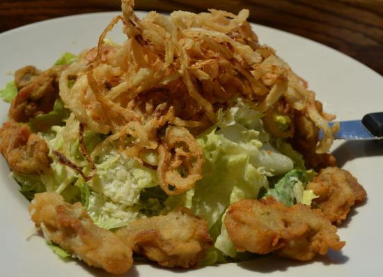 Grasonville, MD: Fried Oyster Caesar Salad with Crispy Onion $19