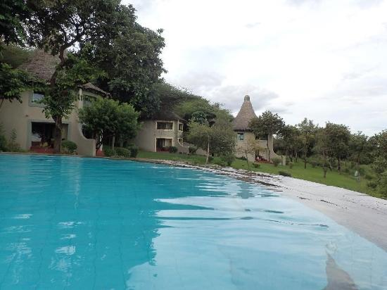 Lake Manyara National Park, Tanzania: View from the pool to the bungalows