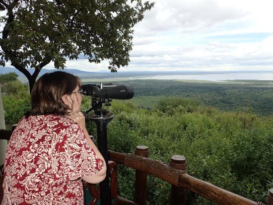 Looking down into the Lake Manyara National Park