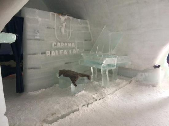 Ice Hotel Romania: The entrance