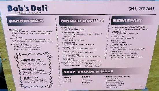 Roseburg, OR: Full menu