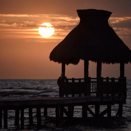 Playa del Secreto, Mexique : Sunrise