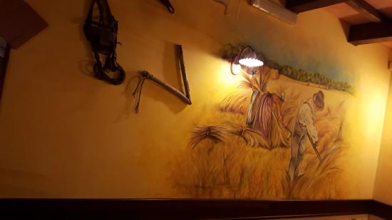 Garzano, Italie : Particolari interno sala