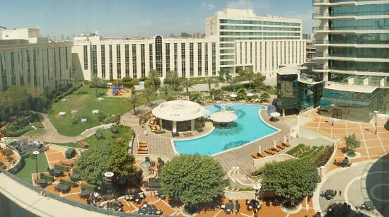Millennium Airport Hotel Dubai Photo Of The Pool And Surroundings From Fourth Floor