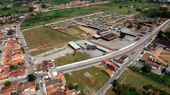 Lagarto, SE: Vista aérea do Parque de Vaquejada  Zezé Rocha