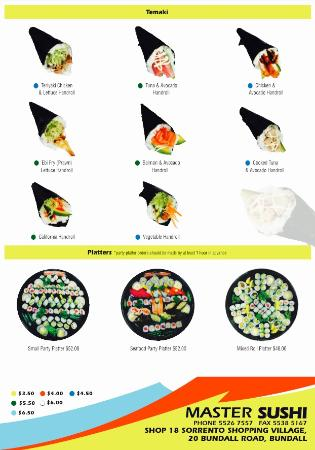 Master Sushi: Hand Roll and Platters