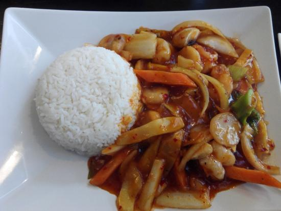 Guangdong House: Gambas y arroz