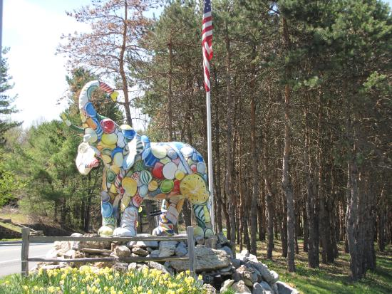 Orrtanna, Pensilvania: The first elephant to greet you approaching from the east.