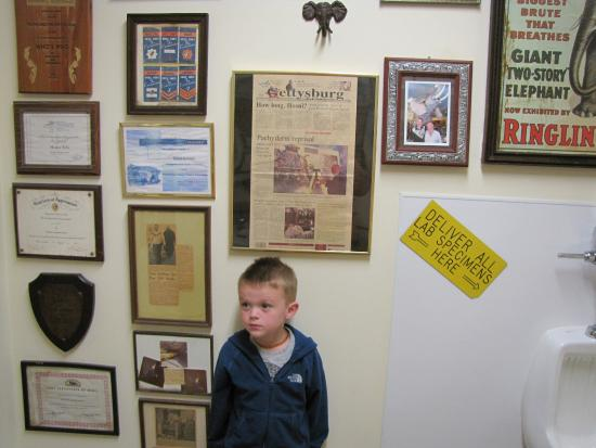 Orrtanna, Pensilvania: Mr. Ed has memorabilia everywhere - including the restrooms.