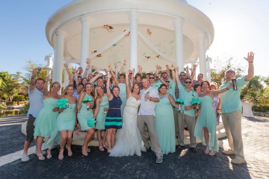 Melia Caribe Tropical All Inclusive Beach Golf Resort Garden Gazebo Wedding