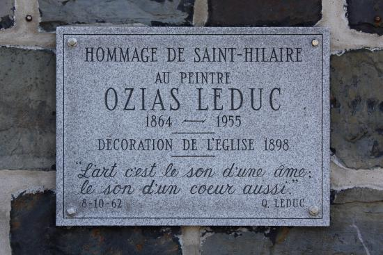 Mont-Saint-Hilaire, Canada: Commemorative plaque for Ozias Leduc