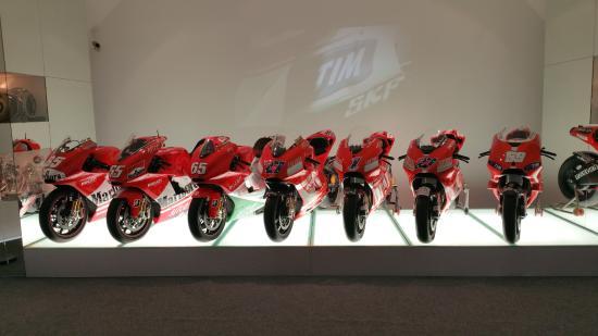 ducati's motogp bikes - picture of museo ducati, borgo panigale