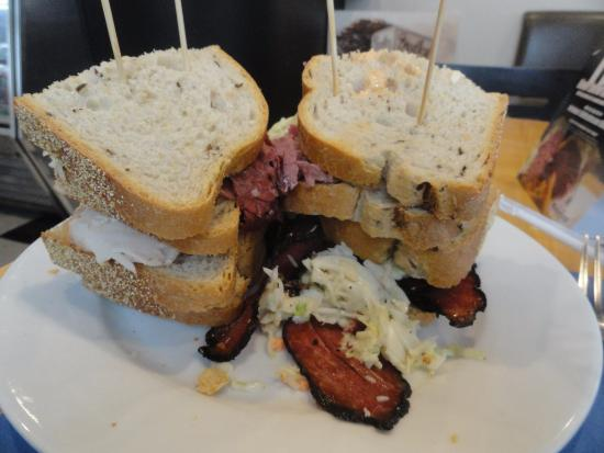 "Bethesda, MD: ""Tower"" Pastrami sandwich"