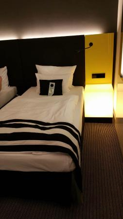 andel's by Vienna House Berlin: Two twin bed room (Only half due to picture)