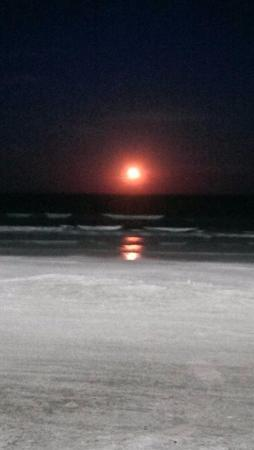 Holiday Inn Corpus Christi - N. Padre Island: Full moon over Corpus