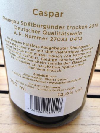 Oestrich-Winkel, Alemania: Spaetburgunder