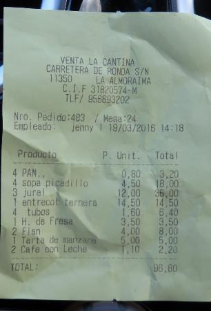Castellar de la Frontera, สเปน: Precio de la mala experiencia