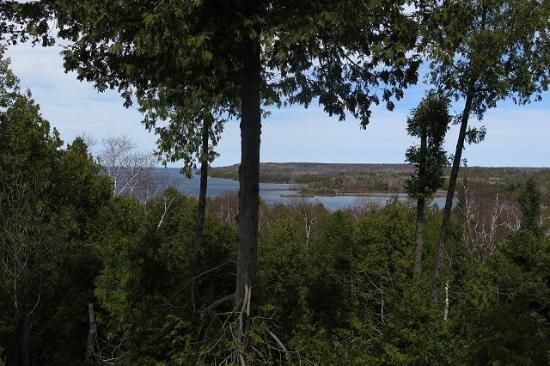 Door County, WI : Overlooking the bay above Fish Creek.