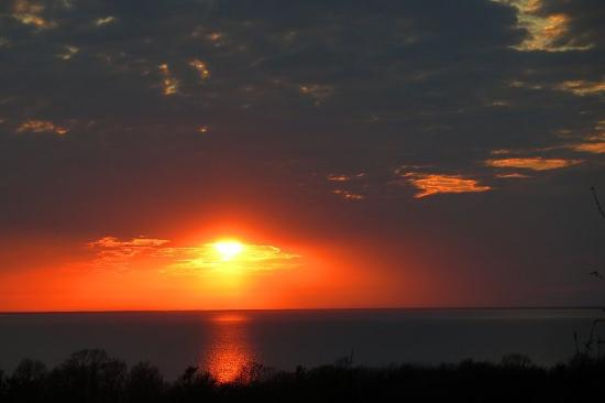 Door County, WI: Sunset from the bluff at the Landmark Resort