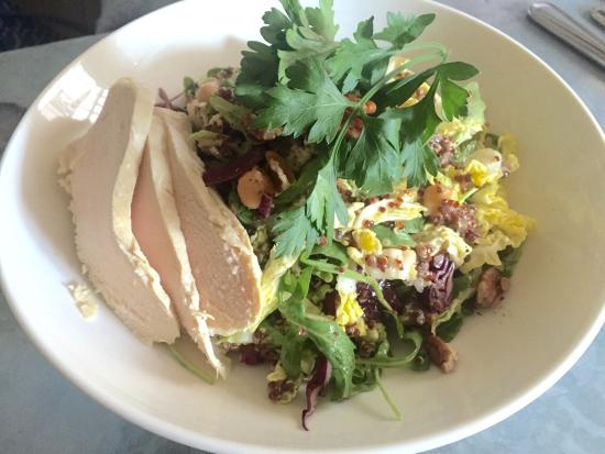 Smith and Mills: Poached chicken club sandwich and salad