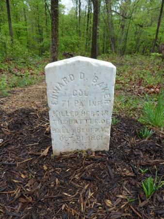 Ball's Bluff Battlefield Regional Park: Edward D. Baker Marker