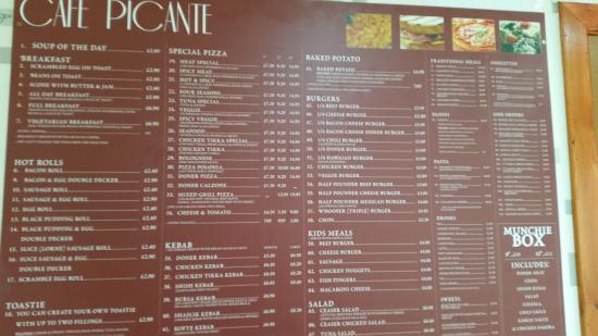 Alness, UK: menu