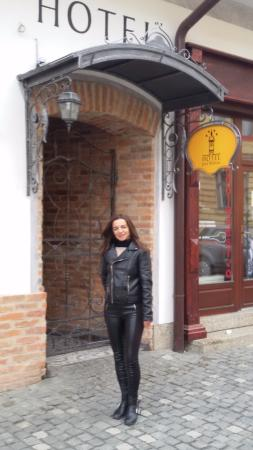 Bardejov, Slovakien: wejscie do hotelu