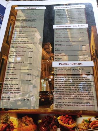 great menu picture of el conejo dorado tripadvisor rh tripadvisor com