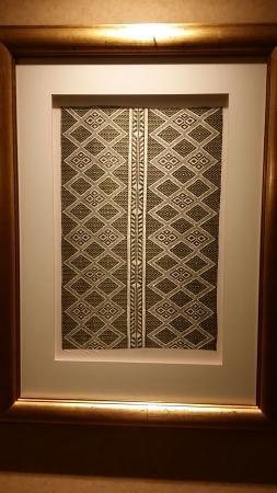 Beautiful art work displaying Ethiopian Fabrics - Picture of