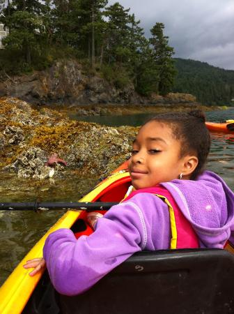 Kayak Brinnon is kid friendly!