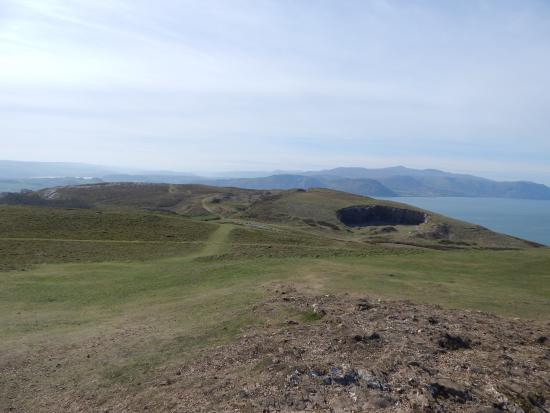 Great Orme: Looking across the cliff tops