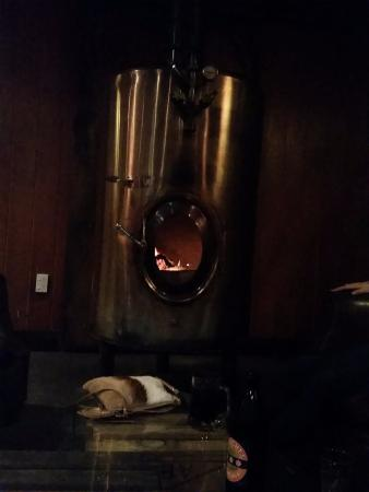 Luggate Hotel: Great looking fire place