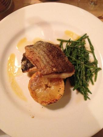 Aberdyfi (Aberdovey), UK: Grey mullet in lime, chilli and ginger