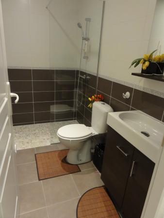 Salle de bain avec douche pour chambre 1 - Bild von Chambres Arc en ...