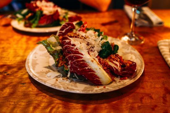 Table 128: Farm Fresh Radicchio Salad. I don't even like radicchio but this tasted so fresh and delicious!