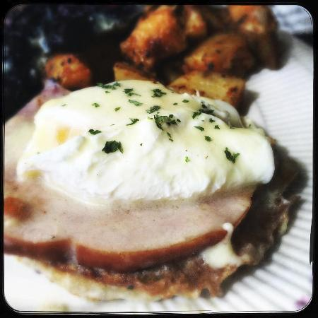 Eggs Benedict at The Rail Yard, Erving, MA
