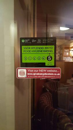 Abergavenny, UK: The only Indian to have 5* food hygiene keep up the good work
