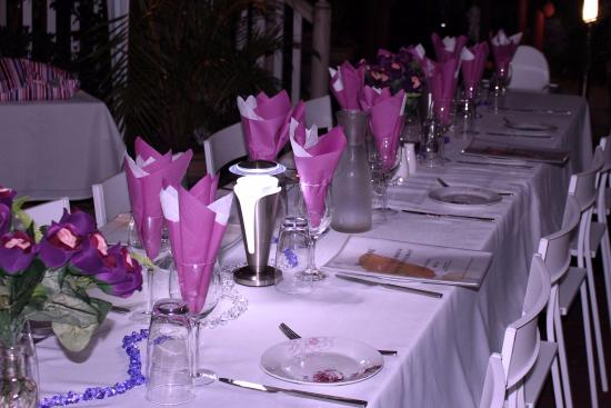 Glenview Gardens Country Resort ad Cafe: My beautiful table decorations for my birthday party.