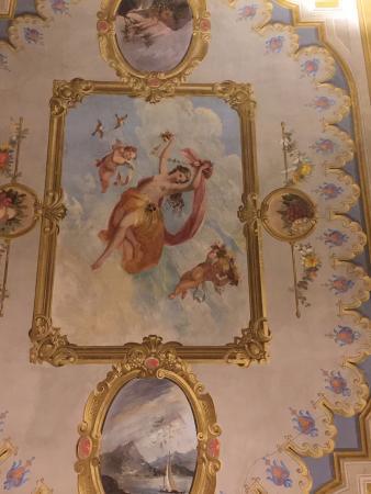 1865 Residenza d'epoca: Ceiling in the bedroom