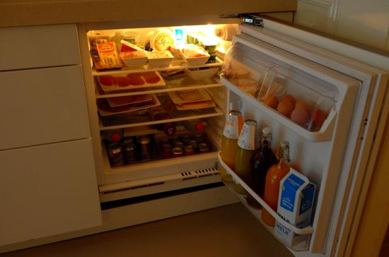Garden Suite: The refrigerator was fully stocked.