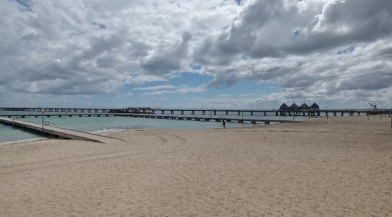 Busselton, Australien: Beach and jetty