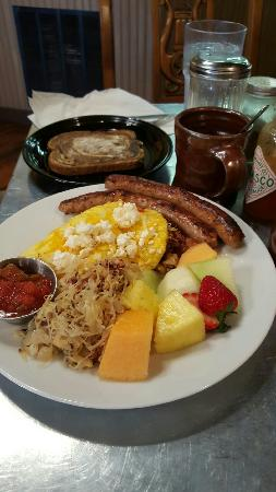 "Great food! Fun atmosphere.  We looove Das Cafe and Spring City. Order the ""Opa's Omelette"" and"