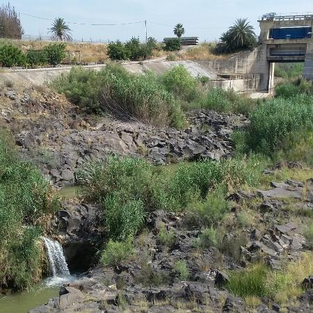 Distrito Norte, Israel: The view in Naharayim