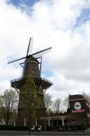 De Gooyer Windmill : Avec la brasserie Brouwerij 't IJ