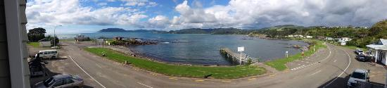 Waihau Bay, Nowa Zelandia: Panoramic view from room